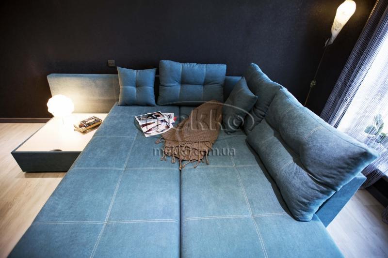Кутовий диван з поворотним механізмом (Mercury) Меркурій ф-ка Мекко (Ортопедичний) - 3000*2150мм  Кремінна-3