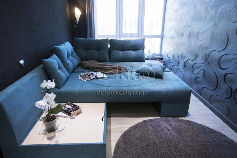 Кутовий диван з поворотним механізмом (Mercury) Меркурій ф-ка Мекко (Ортопедичний) - 3000*2150мм  Кремінна-4