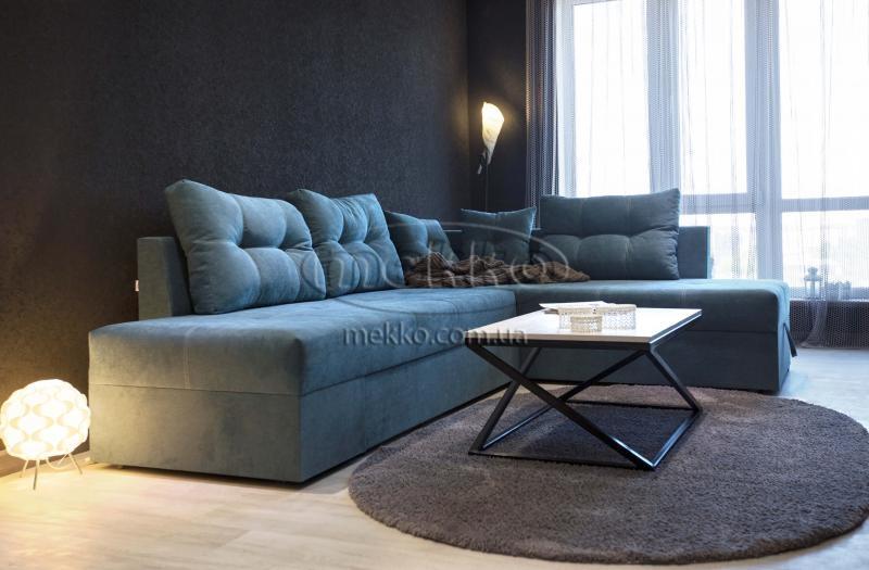 Кутовий диван з поворотним механізмом (Mercury) Меркурій ф-ка Мекко (Ортопедичний) - 3000*2150мм  Кремінна