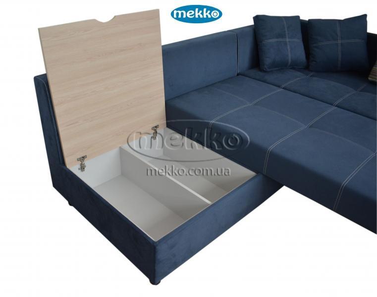 Кутовий диван з поворотним механізмом (Mercury) Меркурій ф-ка Мекко (Ортопедичний) - 3000*2150мм  Кремінна-18