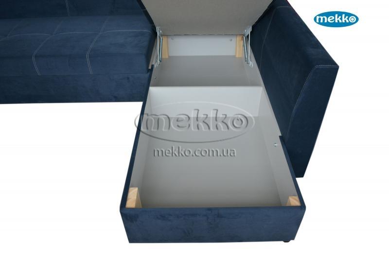 Кутовий диван з поворотним механізмом (Mercury) Меркурій ф-ка Мекко (Ортопедичний) - 3000*2150мм  Кремінна-20