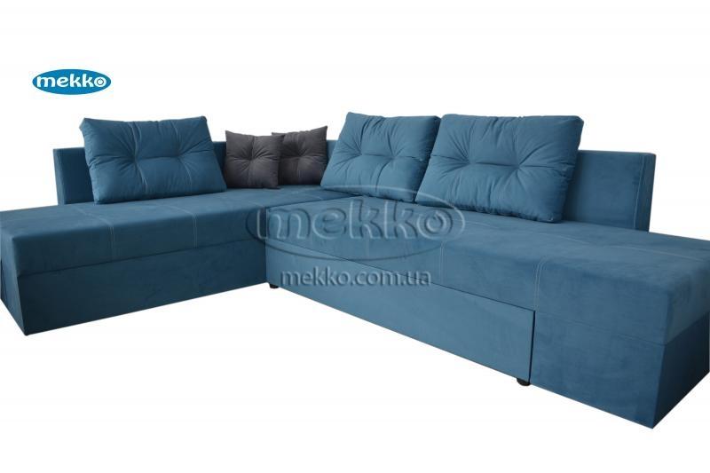 Кутовий диван з поворотним механізмом (Mercury) Меркурій ф-ка Мекко (Ортопедичний) - 3000*2150мм  Кремінна-11